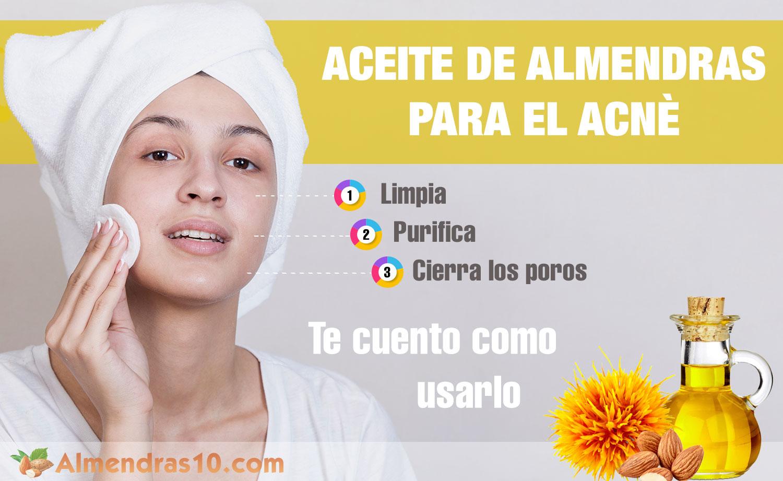 Aceite de almendras para el acne